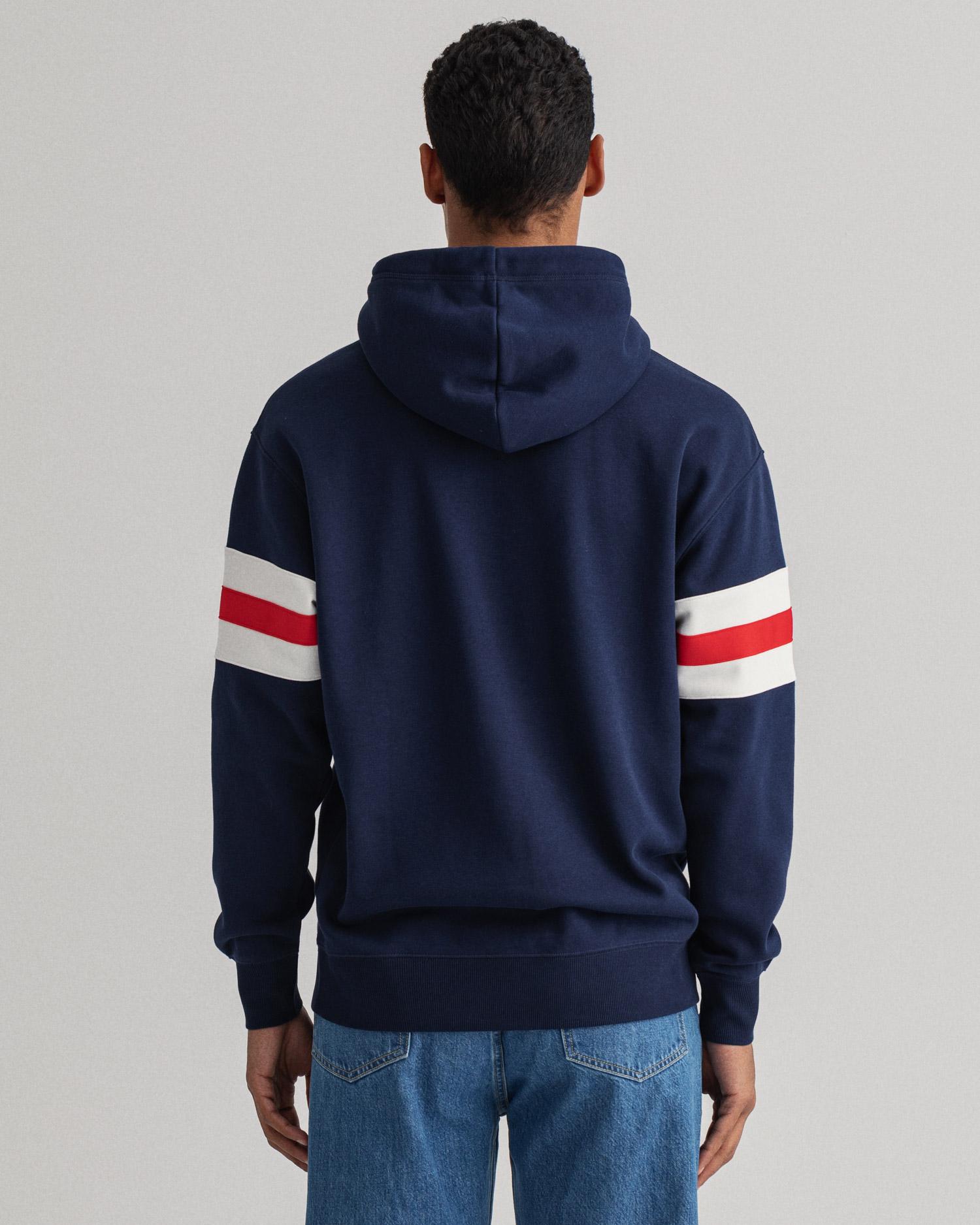 GANT męska bluza z kapturem Relaxed Fit z motywem Retro Shield - 2047071