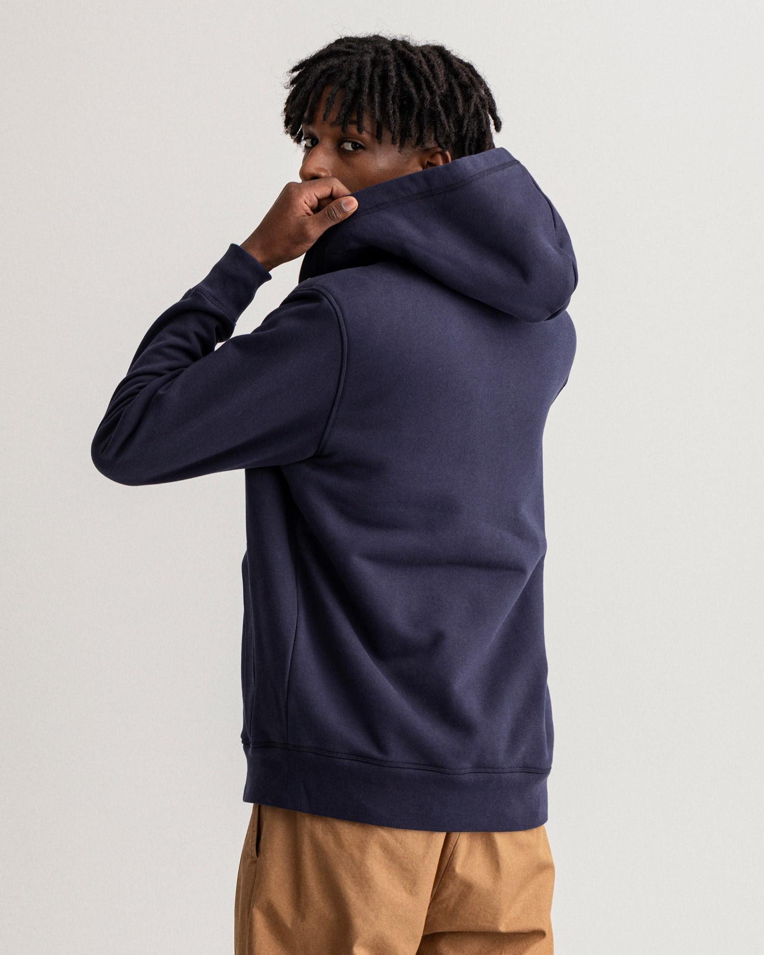 GANT męska bluza z kapturem z polaru Sherpa - 2068003