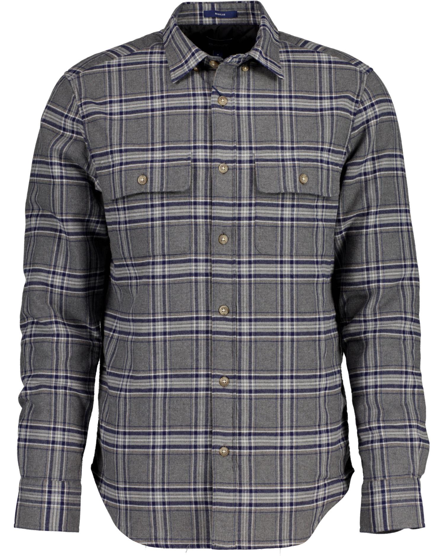 GANT męska koszula wierzchnia w kratkę ocieplana - 3017776