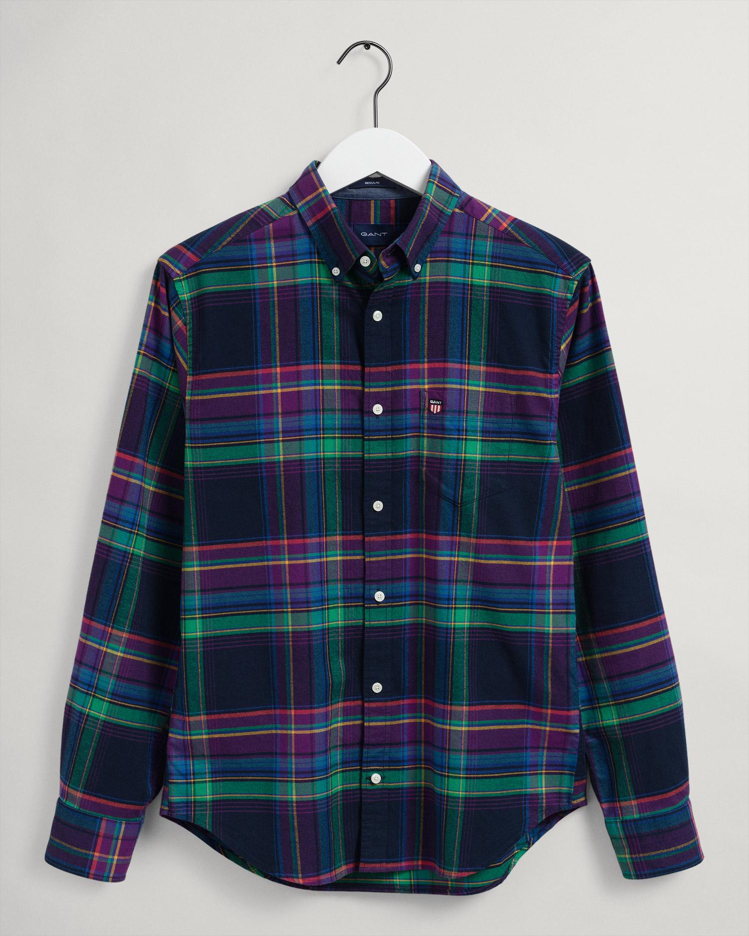 GANT męska koszula flanelowa w kratkę Regular Fit - 3018270