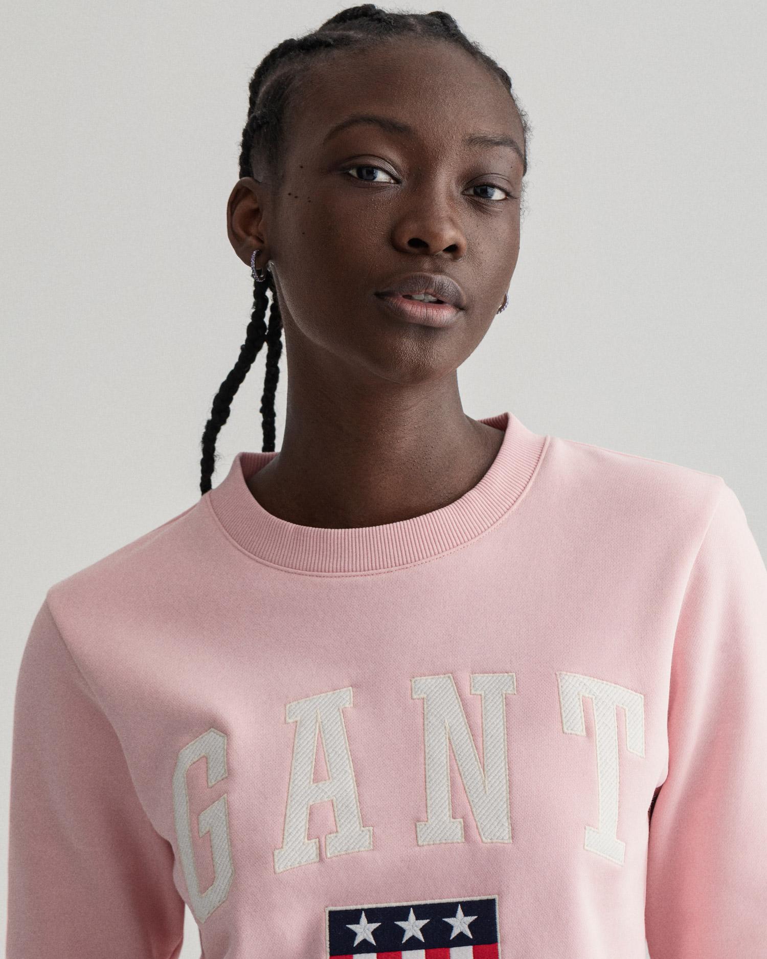 GANT damska bluza z nadrukiem z okrągłym dekoltem - 4204561