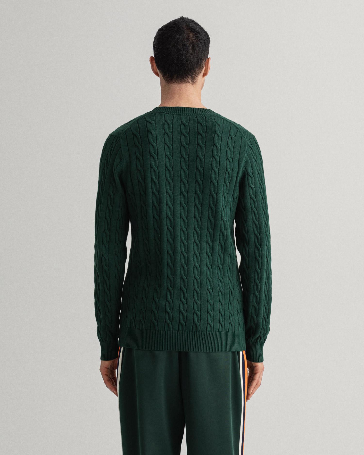 GANT męski sweter bawełniany z okrągłym dekoltem - 8050501
