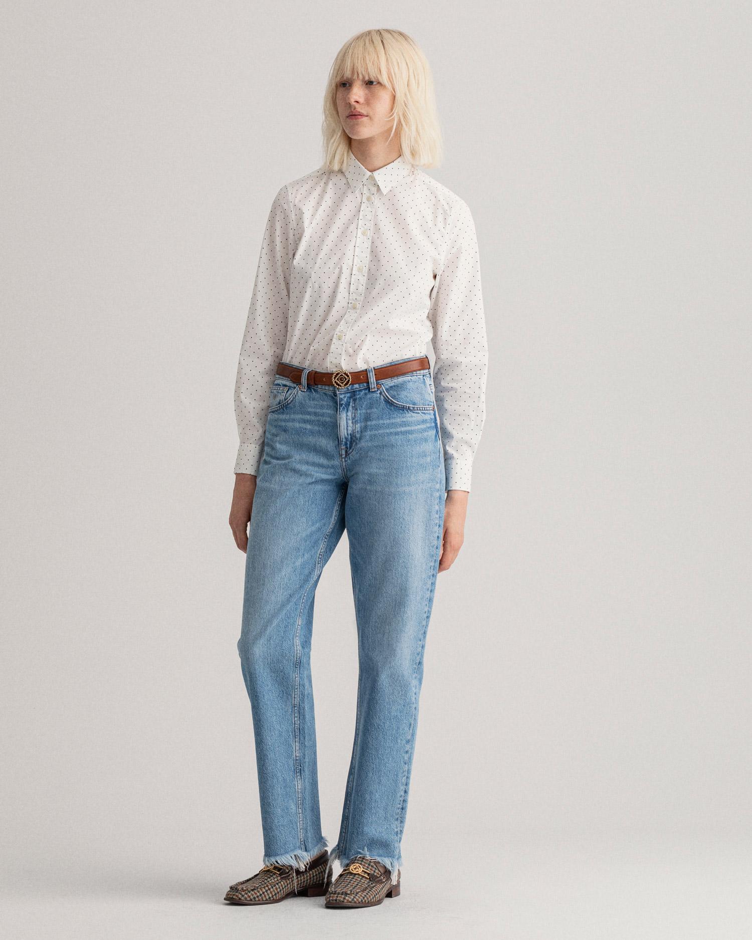 GANT damska koszula z sukna z motywem Polka Dot Regular Fit Tech Prep™ - 4311220