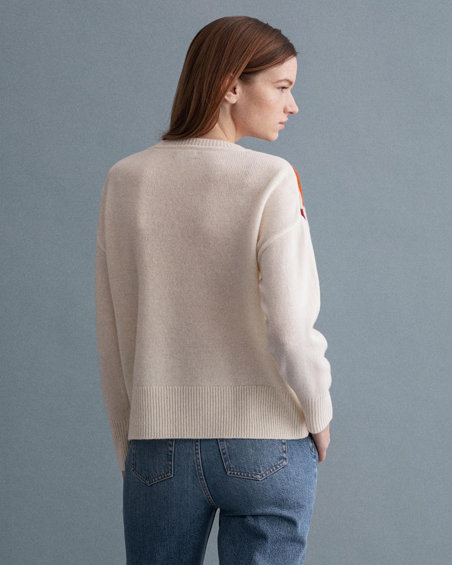 GANT damski sweter z okrągłym dekoltem Agryle - 4802101