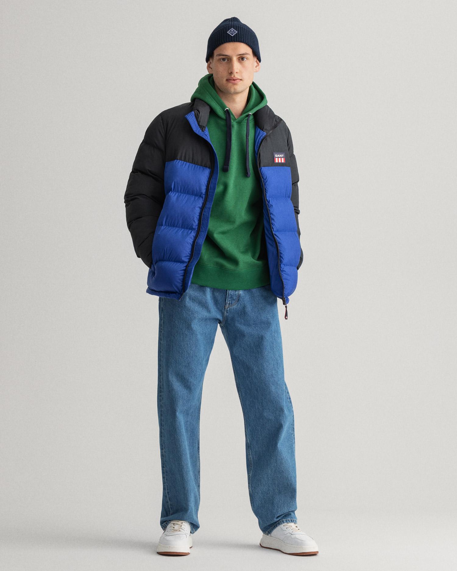 GANT męska kurtka typu puffer w kolorowe bloki - 7006180