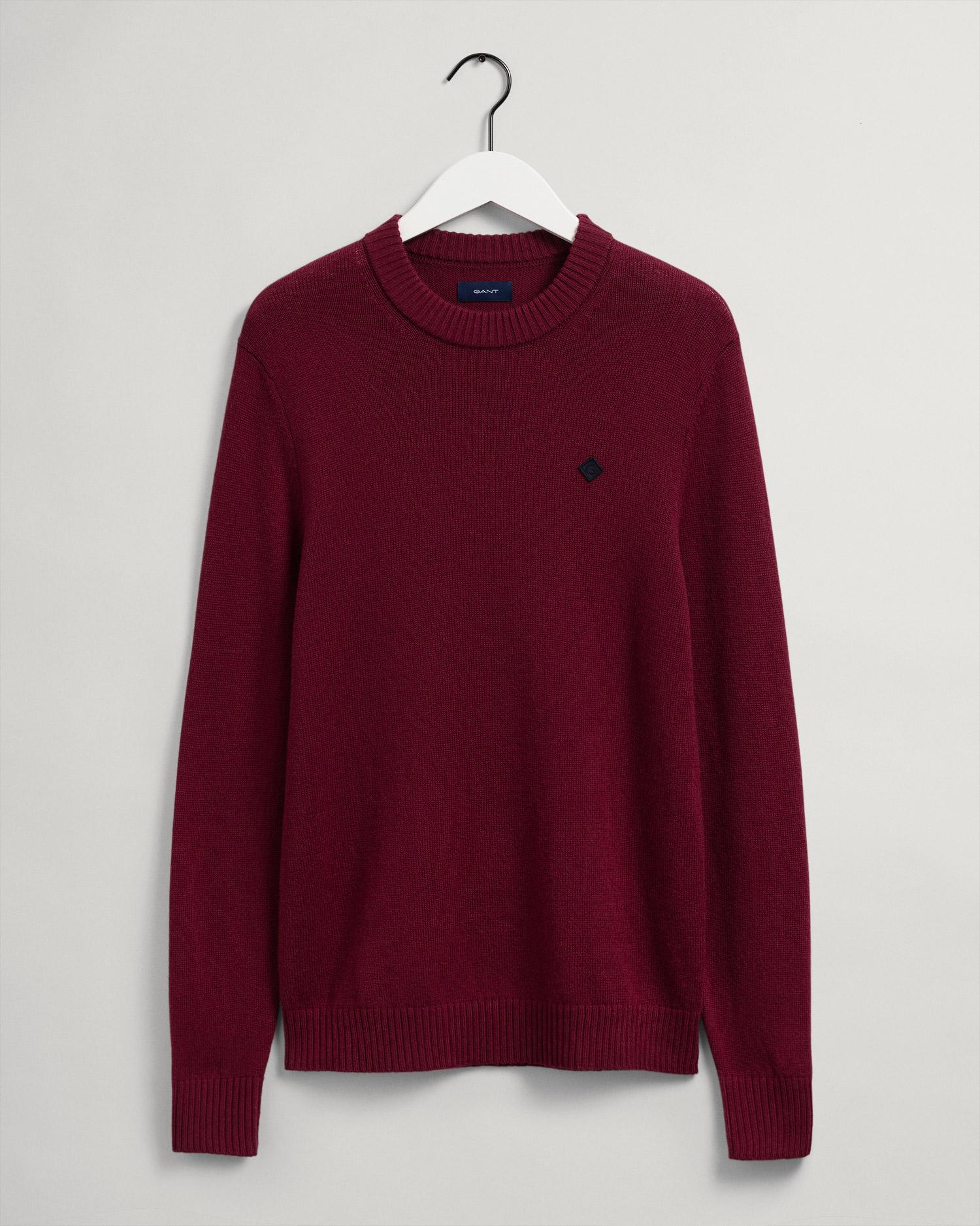 GANT męski sweter z okrągłym dekoltem z wełny Geelong - 8050119